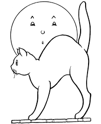 Small Picture Scary Halloween Coloring Page Halloween Scary Cat Free