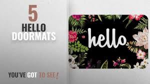 Top 10 Hello Doormats [2018 ]: Hello Flowers Doormat Entrance Mat ...