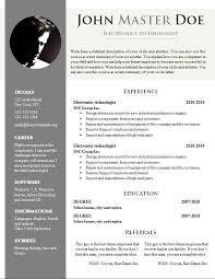 Curriculum Vitae Templates Doc Best Business Template