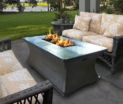 Lowes canada outdoor propane fire pit table rectangular stainless throughout outdoor stainless steel furniture great outdoor