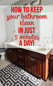 how to keep clean bathroom at tidymom net