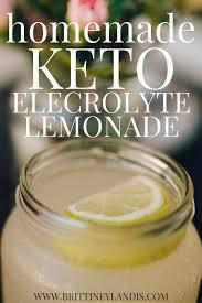 homemade keto electrolyte lemonade