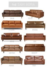 Leather Couch Restoration Tan Leather Sofa Round Up Kassandra Dekoning