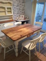 shabby chic oval dining table copper chandelier dining set design idea green cotton kitchen napkins small