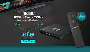 <b>MECOOL KM9 Pro Classic</b> Google Certified TV Box • AndroidTVBOX