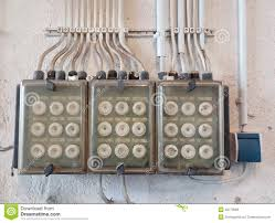 old electric fuse box stock photo image  old electric fuse box
