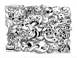 Small Picture Doodle Art For Coloring Page And Sheet By Pierre Fihue Grown Ups