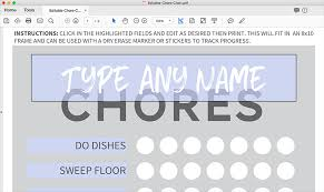 Chore Software Printable Chore Chart For Kids The Honest Company Blog