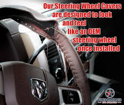 2009 2018 dodge ram 1500 leather steering wheel cover driver dark brown