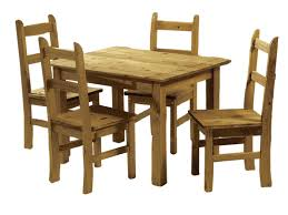 pine dining room table. mexican pine dining table and 4 chairs - corona budget set solid wood room