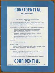 9 Confidential Coversheet Memo Heading