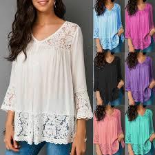<b>ZOGAA</b> 2019 <b>New</b> Women's Fashion Blouses <b>Plus</b> Size Loose V ...