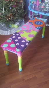 fun painted furniture. adorable bench could paint piano this way fun painted furniture