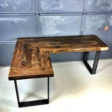 diy l desk hairpin dining table l shaped desk rustic to grey style diy desk