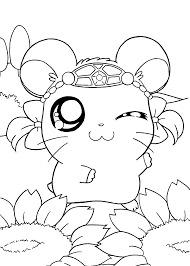 Hamtaro Manga Coloring Pages For Kids