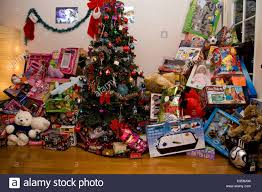 Christmas Tree, lots of presents Stock Photo, Royalty Free Image ...
