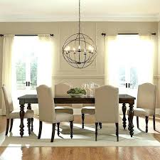 chandelier height above table hanging over dining full image for proper to hang from tabletop chan
