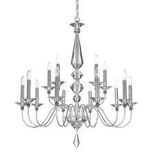 schonbek jasmine silver 15 light clear optic handcut crystal chandelier 36w x 37 5h x 36d
