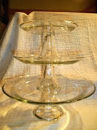 glass buffet plates anchor hocking 3 pedestal clear glass cake plate buffet dessert stand bulk glass buffet plates