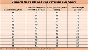 Carhartt Coverall Size Chart Carhartt Mens Big Tall Arctic Quilt Lined Duck Coveralls X01
