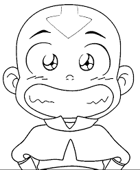 Small Picture Avatar Aang Coloring Pages Wecoloringpage