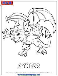Skylanders Spyros Adventure Undead Series1 Cynder Coloring Page H