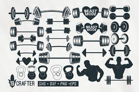 Now i want to share all the images totally free for all people. Barbell Weight Lift Set Gym Svg Bundle 432409 Svgs Design Bundles