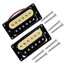 1set of 2 Zebra Faced <b>Humbucker Double Coil Pickups</b> Electric <b>Guitar</b>
