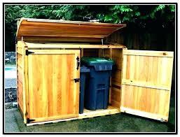 outdoor garbage can holder trash storage cabinet with bin plan wood