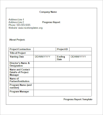 Status Update Report Template