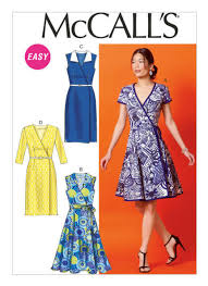 Wrap Dress Sewing Pattern Custom McCall Misses Wrap Dress Belt Sewing Pattern M48 Fitted Bodice