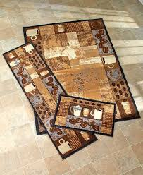 instantly update the look of your room with this coffee themed advanced kitchen rugs casual 9