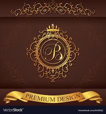 Luxury B B Lake District Grand Designs Letter B Luxury Logo Template Flourishes