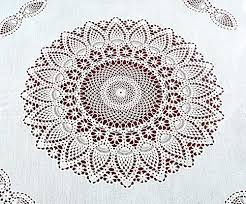 vinyl lace tablecloth 70 round faux lace plastic table cover is reusable and protects surface from