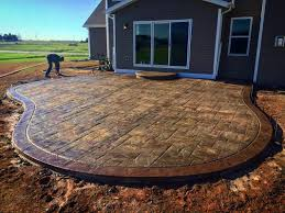 decorative colored stamped concrete pictures