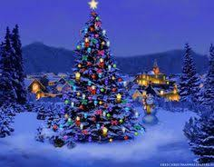 christmas desktop background. Delighful Desktop Christmas Tree In Nature Desktop Theme Intended Background