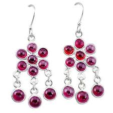 sold out 925 sterling silver natural red garnet chandelier earrings jewelry k62469