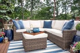 Patio furniture decorating ideas Sectional Simple Deck Decorating Ideas For Summer Jenna Kate At Home Decorating Ideas For Small Deck Tips For Creating Backyard Oasis