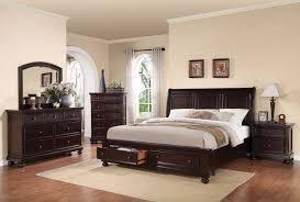 King Bedroom Suits Acme 24607ek Grayson 4pcs Traditional Dark Walnut Eastern King