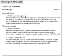Improve focus by grouping temporary job experience under one major title.