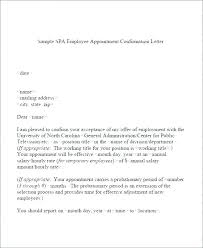 Confirm Letter Of Employment Sample Request Letter For Job Confirmation After Probation
