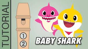 Baby Shark Recorder Notes Tutorial Very Easy