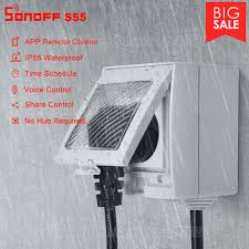 No Hub Required <b>SONOFF S55</b> WiFi Smart Socket Compatible with ...