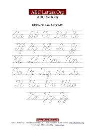 Lowercase Cursive Alphabet Worksheet Cursive Capital And Lowercase Cursive Alphabets Capital And Small