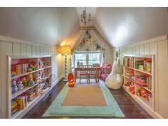 Cool attic playroom
