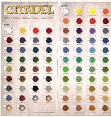 Citadel Color Conversion Chart Dark Future Games New Citadel Paint Charts