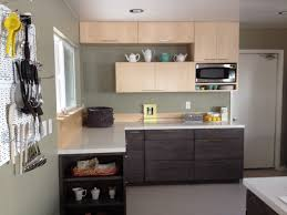minimalist l shaped kitchen with wooden cabinet home design and