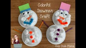 Colorful Snowman Dollar Store Kids Craft