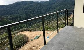 modern cable fence. Fine Fence Modern Railing Cable Railings Railing Contractors To Modern Cable Fence