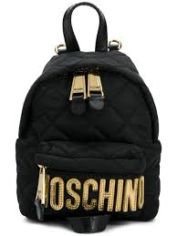 Small Black Designer Backpack Moschino Small Quilted Backpack Backpacks Black Backpack